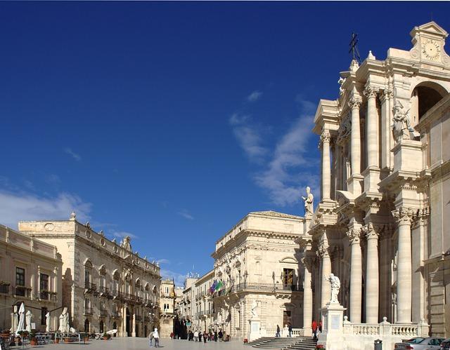 Plaza del Duomo, Siracusa, Sicilia